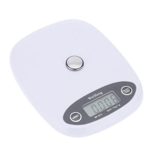 Mini Electronic Balance Professional Digital Pocket Scale Kitchen Scale Food Weighing Tool Orange/White