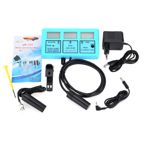 Professional 5 in 1 Water Testing Meter Multi-parameter Water Quality Monitor PH / Temperature / Conductivity EC / CF / TDS Multiparameter Water Quality Analysis Device
