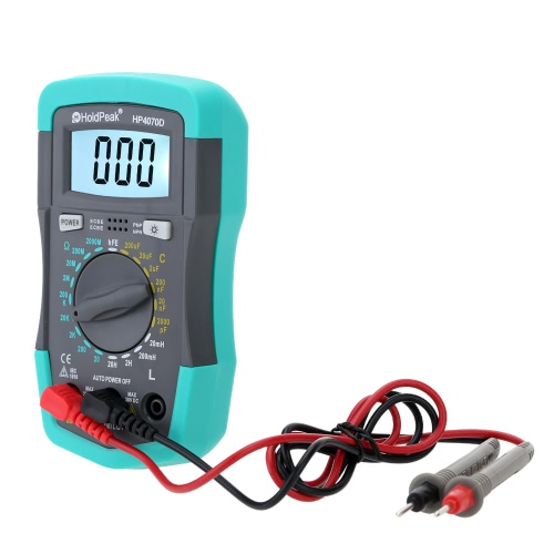 HoldPeak HP4070D Mini Digital Multimeter Resistance Capacitance Inductance Transistor Test