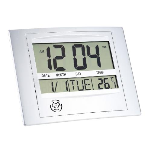 Wielofunkcyjny elektroniczny miernik temperatury Cyfrowy zegar ścienny Zegar alarmowy