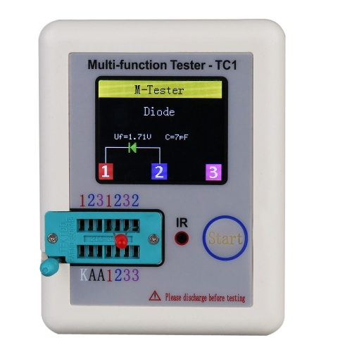 Colorful Display Transistor Tester Multi-functional TFT Backlight Didoe Triode Capacitance Resistor Detector