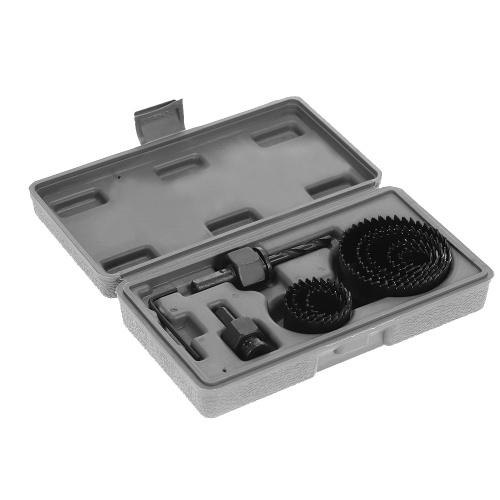 Segunda Mão 11 pcs Buraco Saw Kit De Corte De Ferramentas De Corte de Perfuração De Madeira De Metal Cortador 19-64mm
