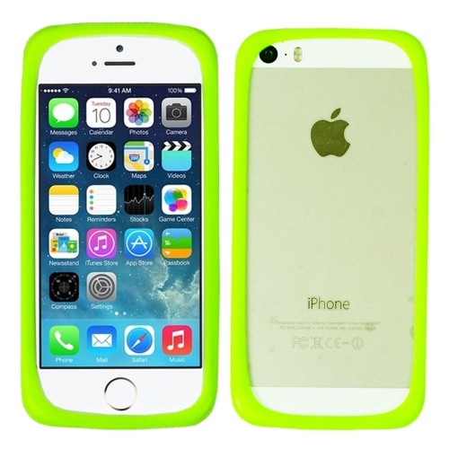 Multi-funzione anello magico in Silicone paraurti custodia Cover per Apple IPhone 5/5S/6G Samsung S3/S4/S5 verde