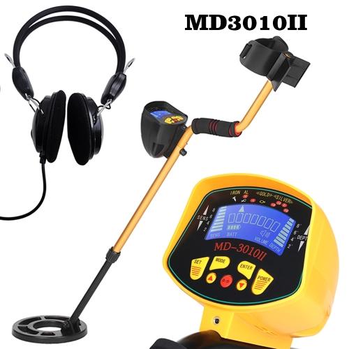 Alta sensibilità MD3010II Metal detector sotterraneo Gold Digger Treasure Hunter Metal Finder Tesori che cercano strumento + auricolare