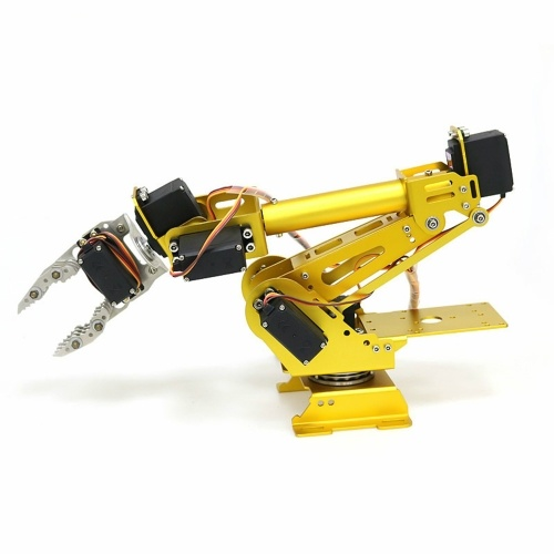 7 DOF Metal Claw Robotic Arm with Servo DIY Kit Mechanical Arm Robot Arm Robotic Clamp Claw Kit with 8pcs Servos Mechanical Arm and Gripper Robotic Arm Kit