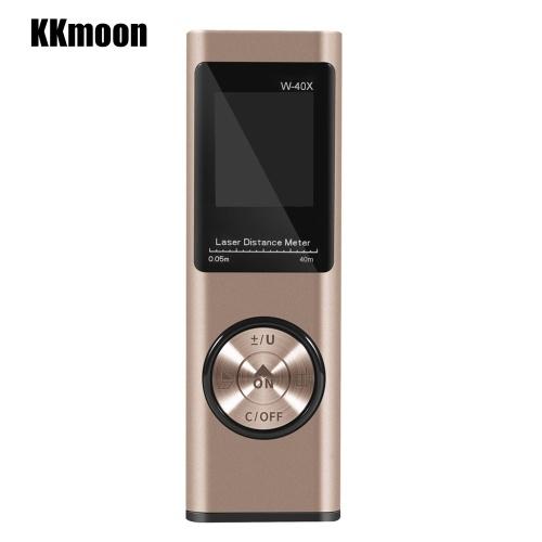 KKMOON Potenziometro portatile 40M aggiornato Lega di alluminio Mini misuratore di distanza digitale Misuratore di carica portatile USB Dispositivo di misurazione elettronica dello spazio per le distanze di volume dell'area