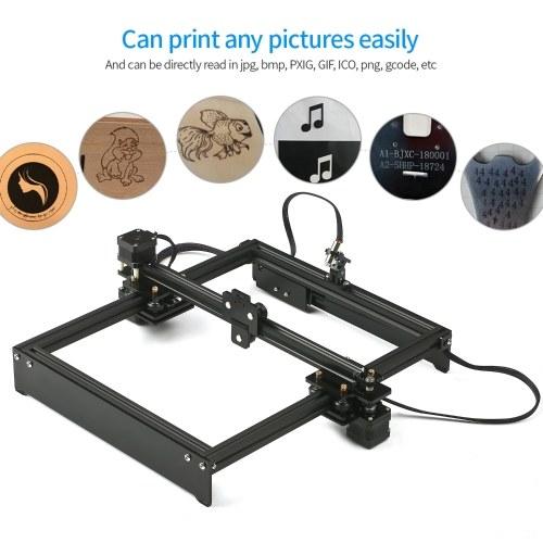 Laser Engraving Machine Off-Line Control Desktop DIY Laser Engraver Cutter Laser Logo Mark Printer Working Area 280*230mm UK Plug