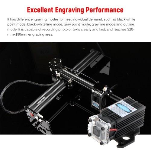 20W Laser Engraver Desktop Engraving Machine Printer Engraving Cutter Portable Household Art Craft DIY Laser Cutting Machine with Offline Control 320m