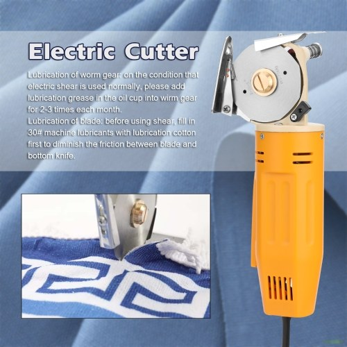 WD-2 Handheld Portable Minishear 70mm Round Blade Electric Cloth Cutter Fabric Cutting Machine