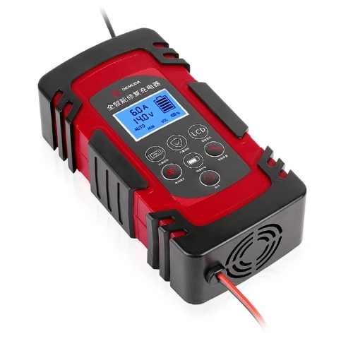 12/24V Automatic Pulse Repairing 3-Stage Battery Charge Device for 4AH-100AH Lead-acid Batteries