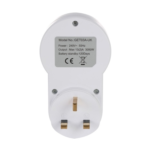 UK Plug Smart Power Socket Digital Timer Switch E4526UK
