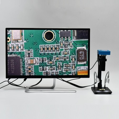 34MP Full HD Industrial Electronic Digital Video Microscope Camera for Phone CPU PCB Repairing with Remote Control