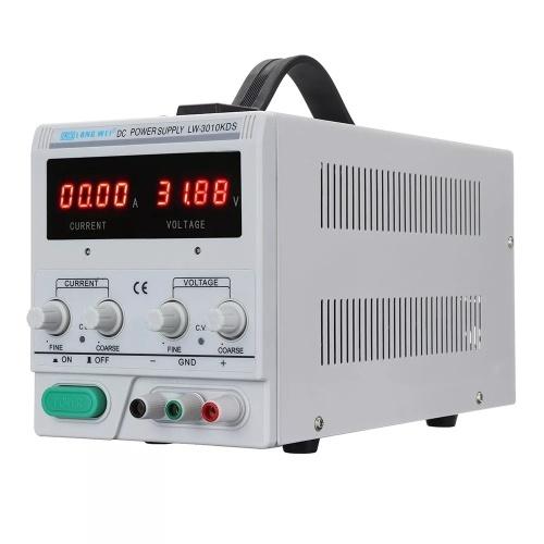 LARGO WEI LW-3010KDS 110V / 220V 0-30V 0-10A Pantalla LED ajustable LED Fuente de alimentación de CC Fuente de alimentación regulada de conmutación