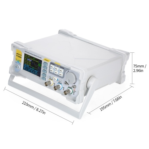 KKmoon 60MHz Function Signal Generator High Precision Digital DDS Dual-channel Function Signal/Arbitrary Waveform Generator Pulse Signal Source 250MSa/s Frequency Meter VCO Burst AM/PM/FM/ASK/FSK/PSK Modulation DDS Generator Function Source Generator
