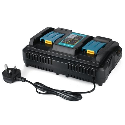 電動工具充電器DC18RDデュアルポート急速充電器Makita 4A 120W 7.2V〜18V電池用電源アダプタ