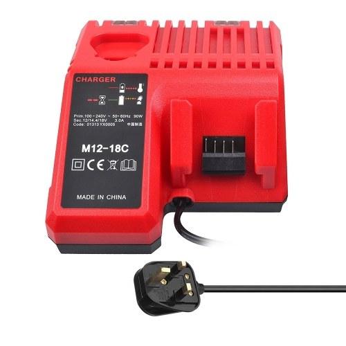 M12-18Cミルウォーキー用リチウムイオンバッテリー充電器12 V 14.4V 18V C1418C 48-11-1815 / 1828/1840 M18 M14 M12リチウムバッテリー