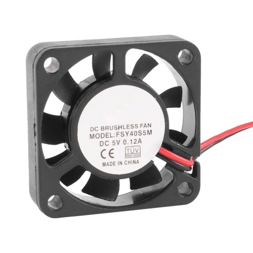 40mm x 10mm 0.12A 2Pin 5V DC Brushless Sleeve Bearing Cooling Fan AD
