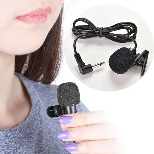 Mini Clip-on Lapel Lavalier Microphone 3.5mm Jack Wired Mic for Speech Teaching