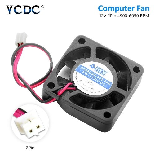 40x40mm 2 pin nero desktop CPU dissipatore di calore dispositivo di raffreddamento ventola di raffreddamento DC 12V 4010 modello 7