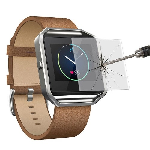 2Pcs Premium Tempered Glass Screen Protector Film For Fitbit Blaze Smart Watch