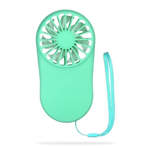 Мини Портативный Вентилятор Скорость Регулируемая USB Аккумуляторная Ручной Вентилятор Личный Вентилятор Охлаждения Карманный Вентилятор с Подвесной Канатой для Наружной Путешествия Home Office Синий фото