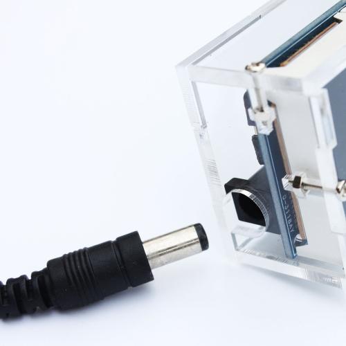 Compatto a 4 cifre di DIY Digital LED Clock Kit Controllo della luce Data di temperatura Data di visualizzazione con custodia trasparente