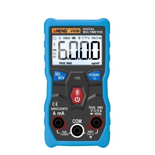 アプリリモートコントロール付きANENGデジタルマルチメータTrueRMSマルチメータオートレンジAC / DC電圧および電流メータマルチテスタは抵抗容量導通ヘルツダイオードおよび温度テスタを測定します