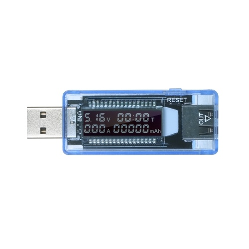 Rilevatore USB 3 in 1 Tester USB multifunzionale Multimetro Tensione Misuratore di capacità corrente Misuratore Voltmetro Amperometro Schermo LCD