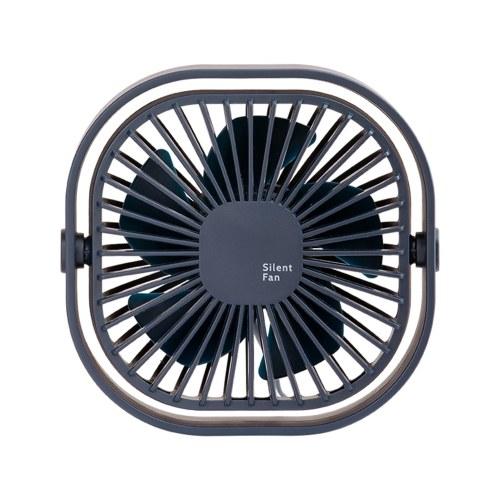 Настольный USB-вентилятор, вращающийся на 360 °, тихий мини-настольный настольный вентилятор, 3-скоростное управление для домашнего офиса, общежития