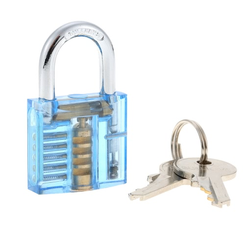 Professional Mini Transparent Visible Locksmith Training Trainer Cutaway Brass Padlock Lock Picking Practice Set Kit