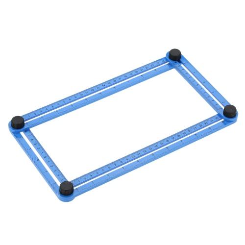マルチアングルルーラーテンプレートツールはすべての角度を測定します。ハンディメントビルダーの角度角度izer職人の繰り返し間隔