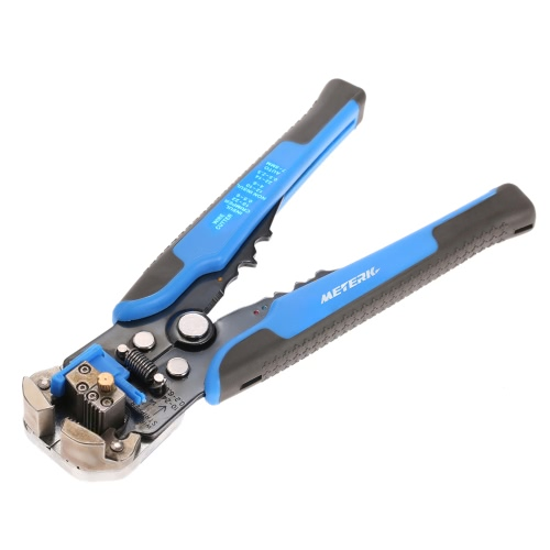 Meterk Multifunctional Automatic Adjustable Cable Wire Stripper Cutter Crimping Tool Peeling Pliers