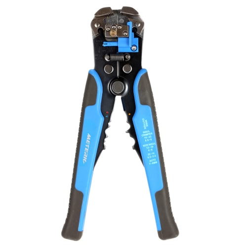 Meterk Multifuncional Automatic Adjustable Cable Wire Stripper Cutter Crimping Tool Peeling Pliers