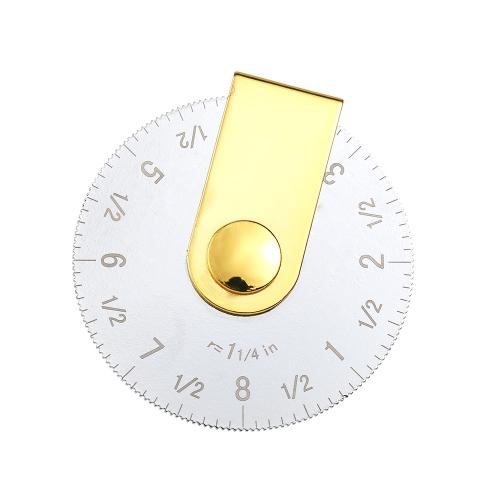 """ポータブル20 / 10cmキルティングパッチワークローリングルーラー正確な8 """"/ 4""""円測定ツール曲線描画テーラー縫製アクセサリーツール"""