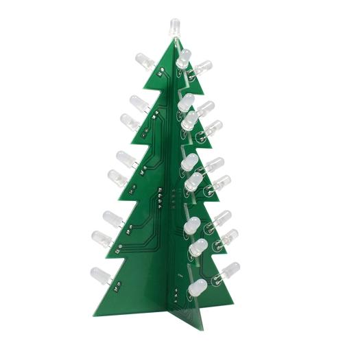 DIY Star Flashing 3D LED Decorazione albero di Natale elettronico Kit di apprendimento elettronico Modulo di commutazione effetto diverso da un pulsante