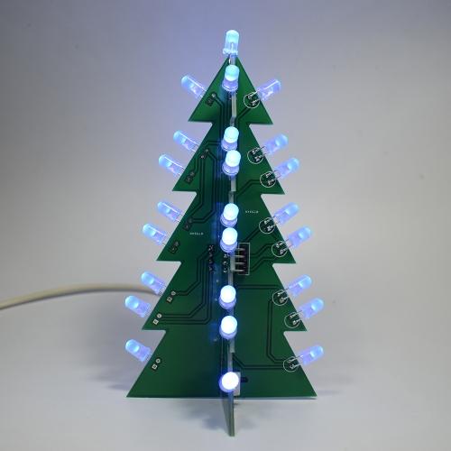 Kit di apprendimento elettronico per albero di Natale con decorazione LED a luce stroboscopica 3D stella di DIY
