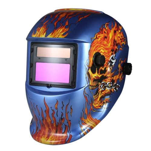 Casque de soudage industriel Solaire Auto obscurcissement Casque de soudage TIG MIG Masque Crâne Meulage Conception