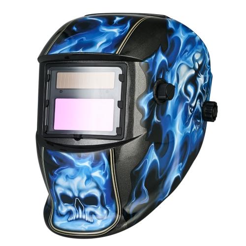 Casco de soldadura industrial Casco de soldadura con oscurecimiento automático de energía solar TIG MIG con banda de cabeza ajustable