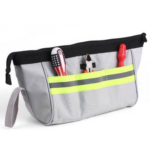 PENGGONG Tool Storage Bag Pockets Pouch Organizer Oxford Canvas Zipper Bags Wearable & Waterproof for Accessories Parts Small Tool