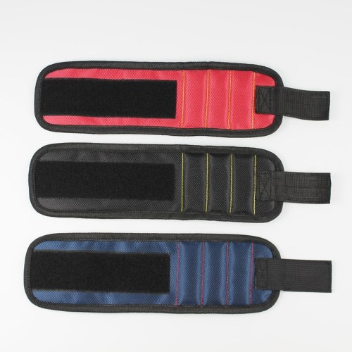 1680D Magnetic Wristband Portable Magnet Belt Screw Nails Drills Bits Holder Tool Repair Kit