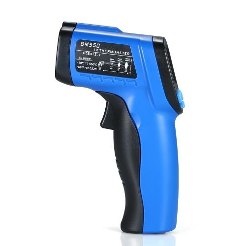 -50 ~ 550 ℃ (-58 ~ 1022 ℉) Termometro IR a infrarossi senza contatto