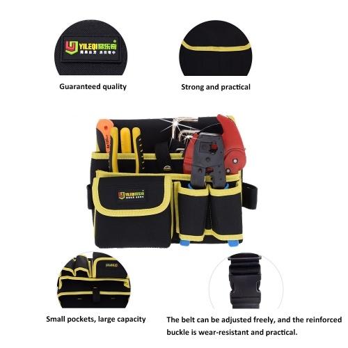 YILEQI Multifunctional Waterproof Wear-resistant Toolkit Waist Bag