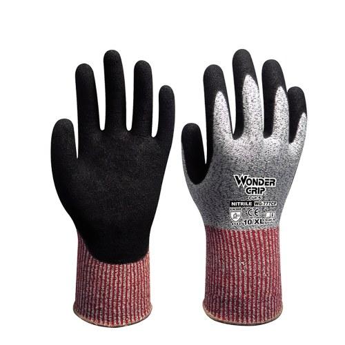 Wonder Grip Schnittfeste Arbeitshandschuhe Stufe 5 Schutz EN388 Zertifizierte Sicherheitshandschuhe für Handschutz 1 Paar X-Large