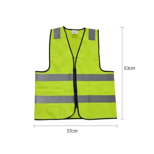 High Visibility Safety Vest Multi Purpose Vest Bright and Reflective Safety Vest Traffic Safety Reflectors Fluorescent Yellow Vest