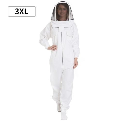 Abito professionale per apicoltore per donna e uomo Completo apicoltore Abbigliamento apicoltore Abbigliamento protettivo con cappello in velo XXXL