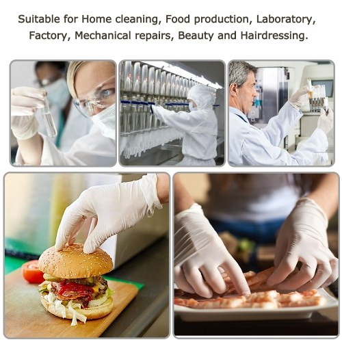 Disposable Latex Gloves Work Gloves Laboratory Gloves Waterproof and Anti-pollution Protection Gloves 100 pcs