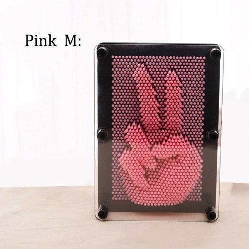 Pin Art 3D Скульптура DIY Иглы Резьба Плесень Украшение Стола Декоративные Украшения Комнаты фото