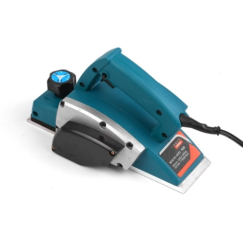 17500rpm 220V 1010W Electic Hand Wood Planer 3-1/4-Inch Planing Width Woodworking Household Planer Machine 50Hz Multifunction Craft with Accessories Kits / Blue + CN Plug