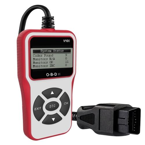 Универсальный сканер OBD II Автомобильный двигатель Считыватель кодов неисправностей EOBD OBD 2 CAN Диагностический сканер для OBD II протокола автомобилей с 1996 года фото