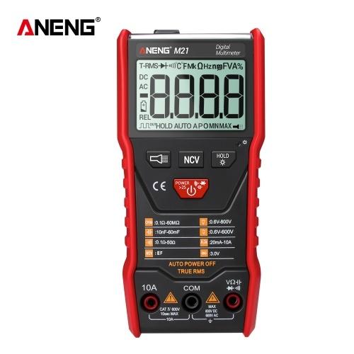 ANENG M21 Multimetro digitale con retroilluminazione 6000 conteggi tensione misuratore resistenza corrente misuratore amperometro voltmetro display LCD